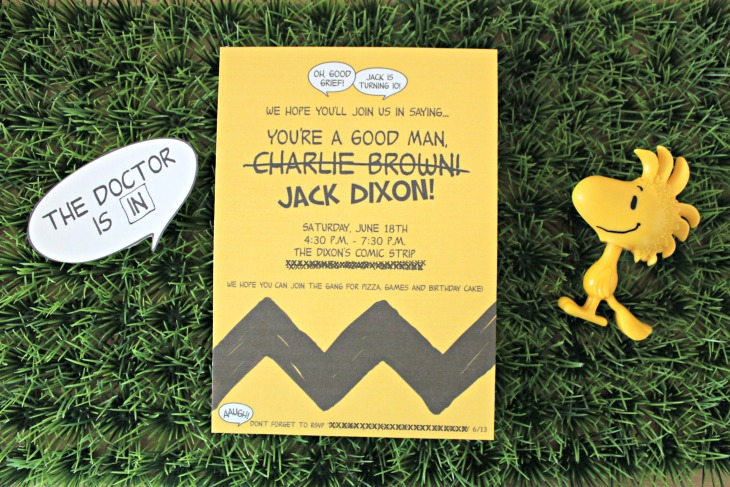 Charlie Brown Invitation